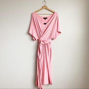 Eloquii Plus Pink Wrap Maxi Dress New NWT 20